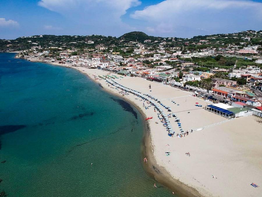 La spiaggia del Park Hotel La Villa