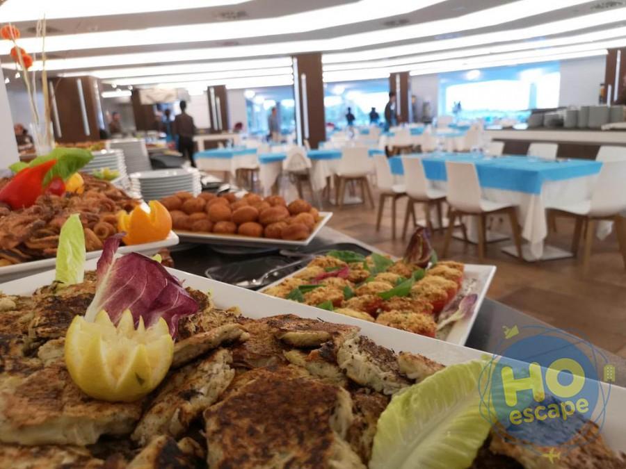 Club Esse Roccaruja Una parte del Buffet