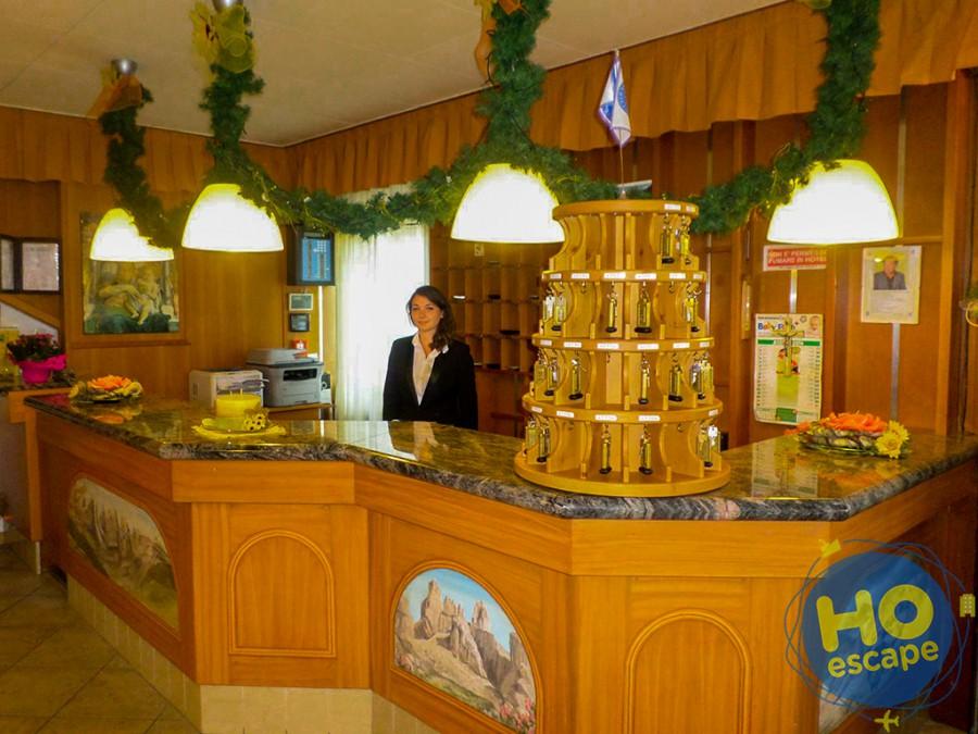 Reception dell'Hotel Andalo